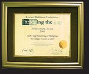 Bridging the Gap Achievement Award